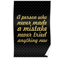 "A person who never made...  ""Albert Einstein"" Inspirational Quote Poster"