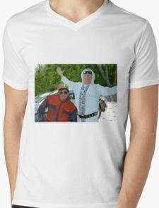 Doc and Marty Mens V-Neck T-Shirt