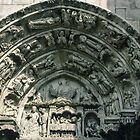 North door Tympanum Cathedral Sens France 198405050087  by Fred Mitchell