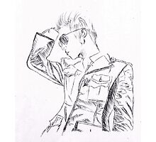 SHINee's Jonghyun: Everybody era Pen drawing Photographic Print