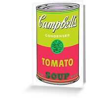 Campbell's Soup Can - Andy Warhol Print Greeting Card