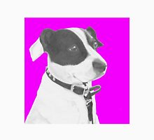 Jack Russell Crossbreed in Pink Headshot Unisex T-Shirt