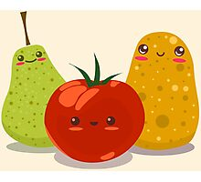 Funny Fruits Fun Pack 2 Photographic Print