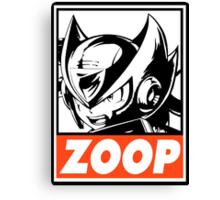Zero Zoop Obey Design Canvas Print