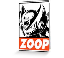 Zero Zoop Obey Design Greeting Card