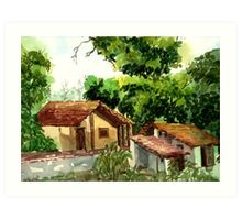 My village my country Art Print