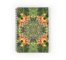 Lilie, Garten, Mandala, Natur, grün, sehr schön, Blumen, Blüte, Sommer, Frühling Spiral Notebook