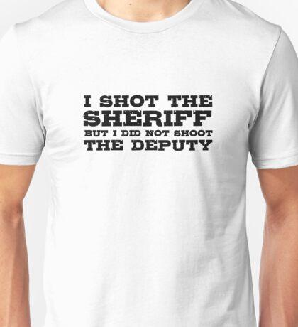 I Shot The Sherrif Bob Marley Eric Clapton Song Lyrics Unisex T-Shirt