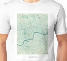 London Map Blue Vintage Unisex T-Shirt