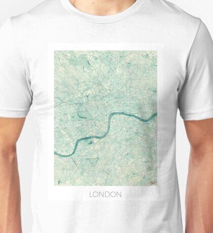 London Map Blue Vintage Unisex T-Shirt