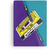Kid 80s - Cassette Tape Rewind with Pen Metal Print