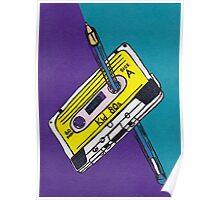 Kid 80s - Cassette Tape Rewind with Pen Poster