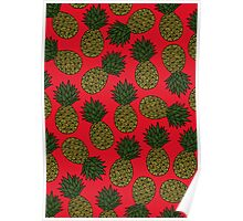 Pineapple - Red Poster