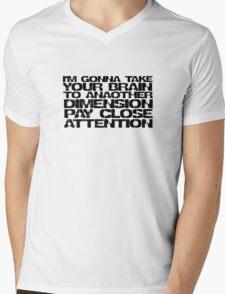 The Prodigy Out Of Space Lyrics Techno Rave Music Mens V-Neck T-Shirt