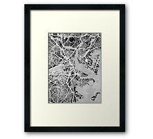 Boston Massachusetts Street Map Framed Print