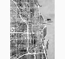 Chicago City Street Map Unisex T-Shirt