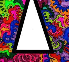 Letter A Doodle Sticker