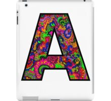 Letter A Doodle iPad Case/Skin