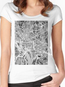 Washington DC Street Map Women's Fitted Scoop T-Shirt