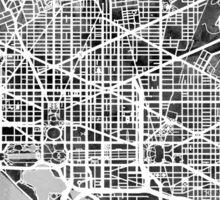 Washington DC Street Map Sticker