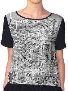 San Francisco City Street Map Chiffon Top