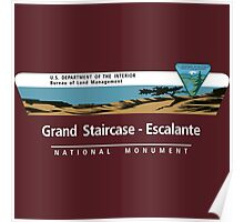 Grand Staircase-Escalante National Monument Sign, Utah Poster