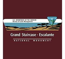 Grand Staircase-Escalante National Monument Sign, Utah Photographic Print