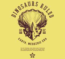 Dinosaurs Ruled [Burgundy Mono] Kids Tee