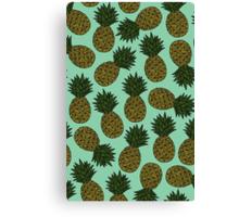 Pineapple - Sea Green Canvas Print