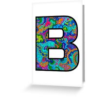 Letter B Doodle Greeting Card