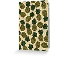 Pineapple - Tan Greeting Card