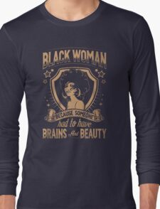 Black woman Long Sleeve T-Shirt