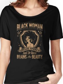 Black woman Women's Relaxed Fit T-Shirt