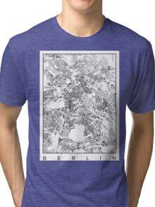 Berlin Map Schwarzplan Only Buildings Urban Plan Tri-blend T-Shirt