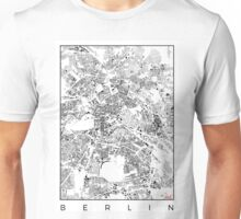 Berlin Map Schwarzplan Only Buildings Urban Plan Unisex T-Shirt