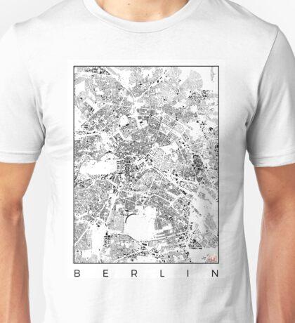 Berlin Map Schwarzplan Only Buildings Urban Plan Unisex T-Shirt