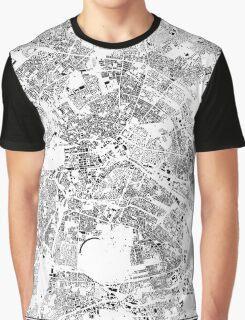 Berlin Map Schwarzplan Only Buildings Urban Plan Graphic T-Shirt