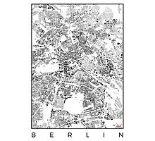 Berlin Map Schwarzplan Only Buildings Urban Plan Photographic Print