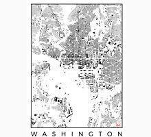 Washington Map Schwarzplan Only Buildings Urban Plan Unisex T-Shirt