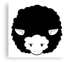 Monochrome Sheep Canvas Print