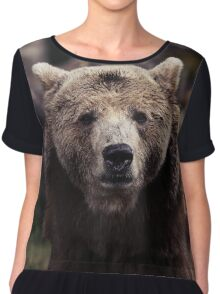Brown Bear Chiffon Top