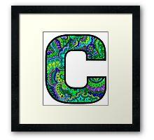 Letter C Doodle Framed Print