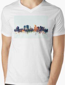 Christchurch New Zealand Skyline Mens V-Neck T-Shirt