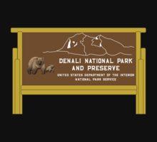 Denali National Park and Preserve Sign, Alaska, USA Baby Tee