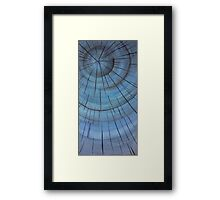 Blue wood Framed Print