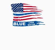 Blue Live Matter Flag Distressed Unisex T-Shirt