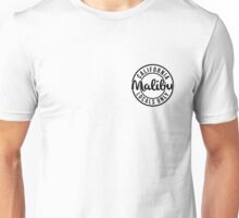 Malibu Locals Only - Black Unisex T-Shirt