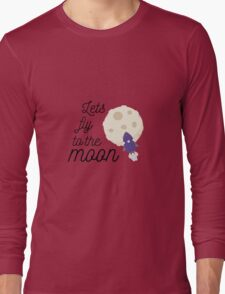 fly to the moon Long Sleeve T-Shirt