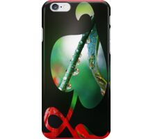 Rain drops -Red Lilly in reflection iPhone Case/Skin