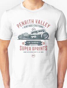 Vintage Customs Super Sprint [Muted Red & Blue] Unisex T-Shirt